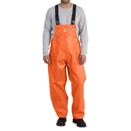 Carhartt Belfast PVC Rain Bib Overalls - Waterproof (For Big and Tall Men) in Orange - Closeouts