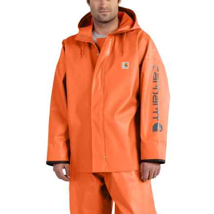 Carhartt Belfast PVC Rain Coat - Waterproof (For Big and Tall Men) in Orange - Closeouts