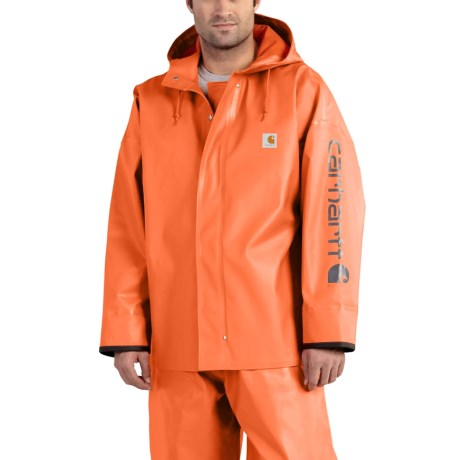 Carhartt Belfast PVC Rain Coat - Waterproof (For Men) in Orange
