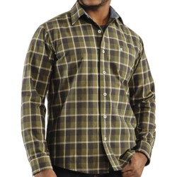 Carhartt Bellevue Plaid Shirt - Slim Fit, Spread Collar, Long Sleeve (For Men) in Java Brown