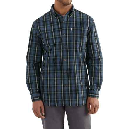 Carhartt Bellevue Shirt - Long Sleeve, Factory Seconds (For Tall Men) in Dark Cobalt Blue - 2nds