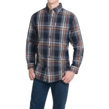 Carhartt Bellevue Shirt - Long Sleeve (For Men) in Navy - 2nds