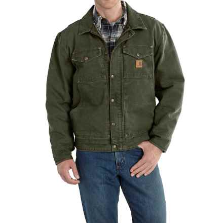 Carhartt Berwick Sandstone Duck Jacket - Factory Seconds (For Big and Tall Men) in Moss - 2nds