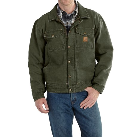 Carhartt Berwick Sandstone Duck Jacket - Factory Seconds (For Big and Tall Men)