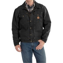 Carhartt Berwick Sandstone Duck Jacket (For Big and Tall Men) in Black - 2nds