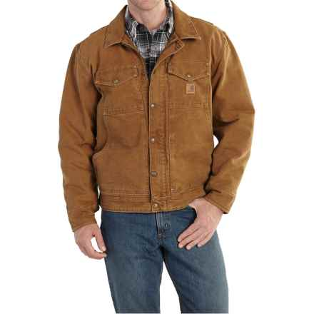 Carhartt Berwick Sandstone Duck Jacket (For Big and Tall Men) in Carhartt Brown - 2nds