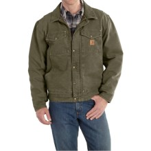 Carhartt Berwick Sandstone Duck Jacket (For Men) in Army Green - 2nds