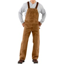 Carhartt Bib Overalls - Sandstone Duck, Unlined (For Men) in Carhartt Brown - 2nds
