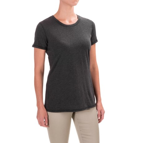 Carhartt Blank Cotton T-Shirt - Short Sleeve, Factory Seconds (For Women) in Black Heather