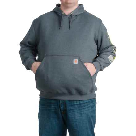 Carhartt Block Graphic Logo Hoodie - Factory Seconds (For Men) in Charcoal Heather - 2nds