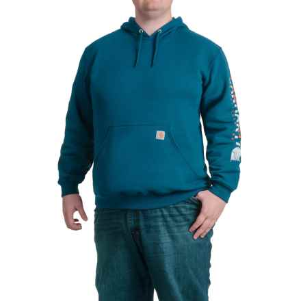 Carhartt Block Graphic Logo Hoodie - Factory Seconds (For Men) in Superior Blue - 2nds