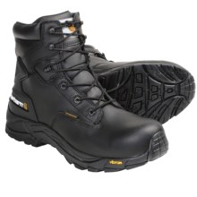 """Carhartt Blucher Oil-Tanned Leather Work Boots - 6"""", Waterproof, Soft Toe (For Men) in Black - Closeouts"""