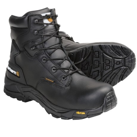 "Carhartt Blucher Oil-Tanned Leather Work Boots - 6"", Waterproof, Soft Toe (For Men) in Black"