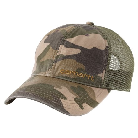 13bb9d5353761 Carhartt Brandt Camo Mesh Back Baseball Cap (For Men) in Khaki Camo -  Closeouts