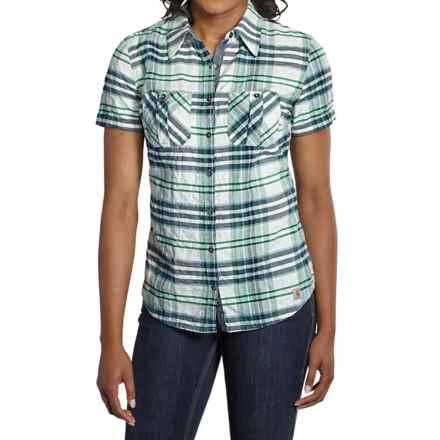 Carhartt Brogan Shirt - Short Sleeve, Factory Seconds (For Women) in Emerald - 2nds