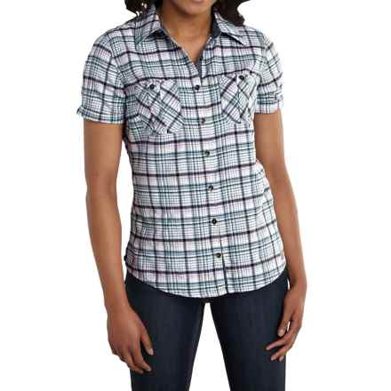 Carhartt Brogan Shirt - Short Sleeve, Factory Seconds (For Women) in Lapis Blue Heather - 2nds