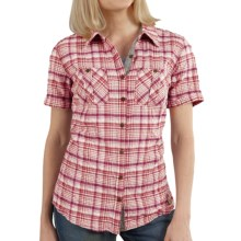 Carhartt Brogan Shirt - Short Sleeve (For Women) in Dried Rose - 2nds
