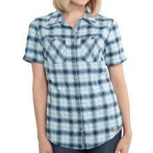 Carhartt Brogan Shirt - Short Sleeve (For Women) in Ether - 2nds