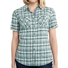 Carhartt Brogan Shirt - Short Sleeve (For Women) in Green Lily - 2nds