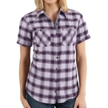 Carhartt Brogan Shirt - Short Sleeve (For Women) in Misty Lilac - 2nds