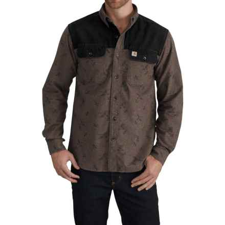 Carhartt Burleson Upland Shooting Shirt - Long Sleeve (For Men) in Dark Coffee Heather - Closeouts