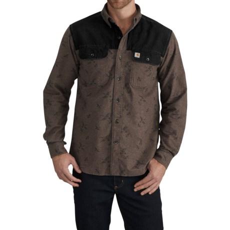 Carhartt Burleson Upland Shooting Shirt - Long Sleeve (For Men) in Dark Coffee Heather