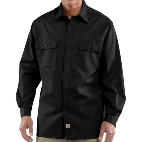 Carhartt Button-Up Twill Work Shirt - Long Sleeve, Factory Seconds (For Men) in Black