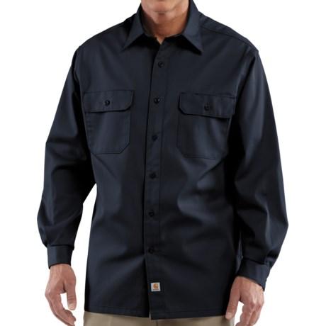 Carhartt Button-Up Twill Work Shirt - Long Sleeve, Factory Seconds (For Men) in Navy