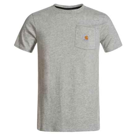 Carhartt C Dog Pocket T-Shirt - Short Sleeve (For Big Boys) in Grey - Closeouts