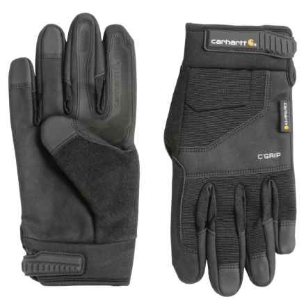 Carhartt C-Grip Tri-Grip Gloves (For Men and Women) in Black - Closeouts