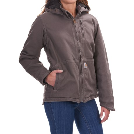 Carhartt Caldwell Full Swing Jacket (For Women) in Taupe Grey