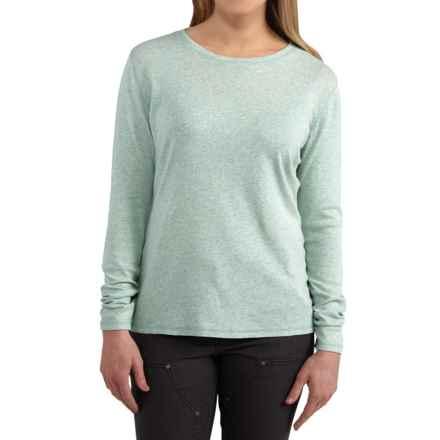 Carhartt Calumet Crew T-Shirt - Long Sleeve, Factory Seconds (For Women) in Aqua Gray Heather - 2nds