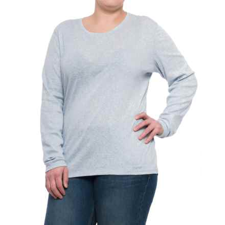 Carhartt Calumet Crew T-Shirt - Long Sleeve, Factory Seconds (For Women) in Soft Blue Heather - 2nds
