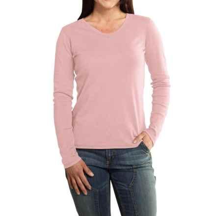 Carhartt Calumet T-Shirt - V-Neck, Long Sleeve (For Women) in Light Blossom Heather - 2nds