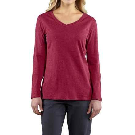 Carhartt Calumet T-Shirt - V-Neck, Long Sleeve (For Women) in Raspberry Heather - 2nds