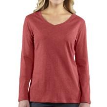 Carhartt Calumet T-Shirt - V-Neck, Long Sleeve (For Women) in Wild Rose Heather - 2nds