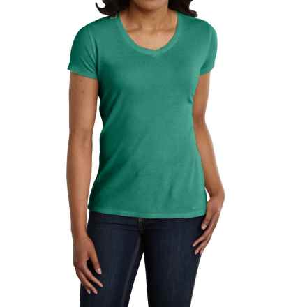 Carhartt Calumet T-Shirt - V-Neck, Short Sleeve (For Women) in Emerald Heather - 2nds