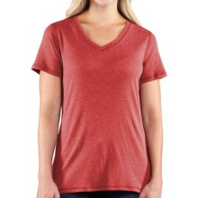 Carhartt Calumet T-Shirt - V-Neck, Short Sleeve (For Women) in Geranium Coral Heather - 2nds