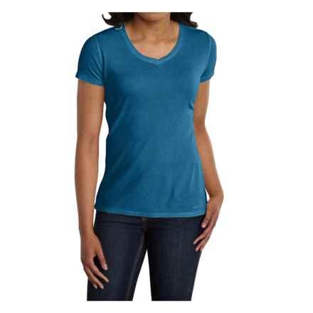 Carhartt Calumet T-Shirt - V-Neck, Short Sleeve (For Women) in Island Blue Heather - 2nds