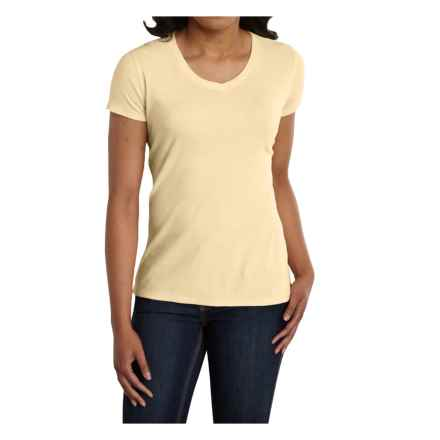 Carhartt Calumet T-Shirt - V-Neck, Short Sleeve (For Women) in Lemongrass Heather - 2nds