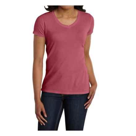 Carhartt Calumet T-Shirt - V-Neck, Short Sleeve (For Women) in Wild Rose Heather - 2nds