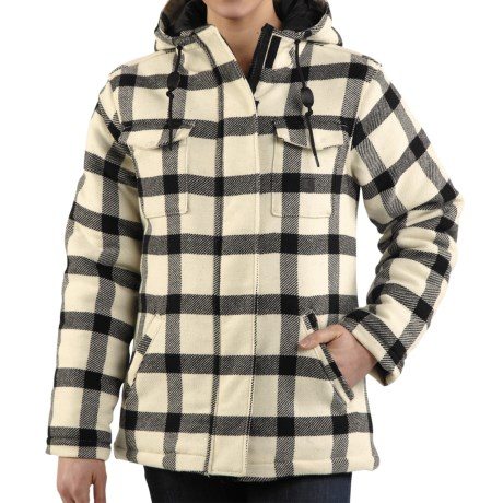 Carhartt Camden Plaid Parka - 16 oz. Wool Blend (For Women) in Scarlet
