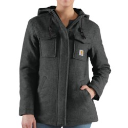 Carhartt Camden Solid Parka - Wool, Insulated (For Women) in Light Shale Brown Heather