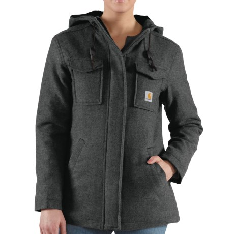Carhartt Camden Solid Parka - Wool, Insulated (For Women) in Black Heather