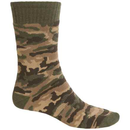 Carhartt Camo Boot Socks - Mid Calf (For Little and Big Boys) in Olive - Closeouts