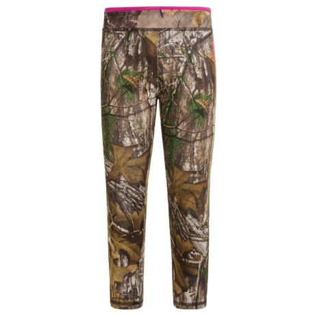 Carhartt Camo Capris (For Little Girls) in Dark Brown Print