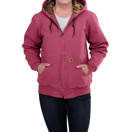Carhartt Camo-Lined Sandstone Active Jacket - Factory Seconds (For Women) in Crab Apple - 2nds