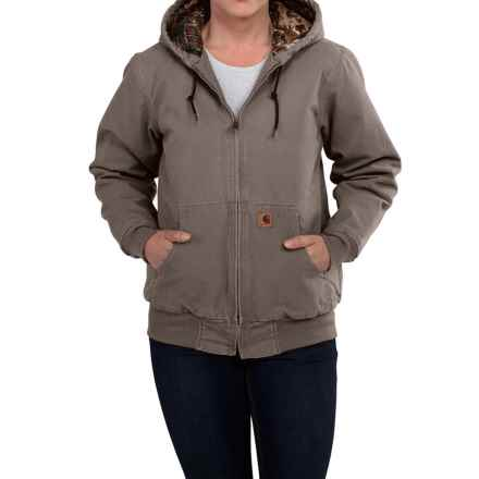 Carhartt Camo-Lined Sandstone Active Jacket - Factory Seconds (For Women) in Taupe Grey - 2nds
