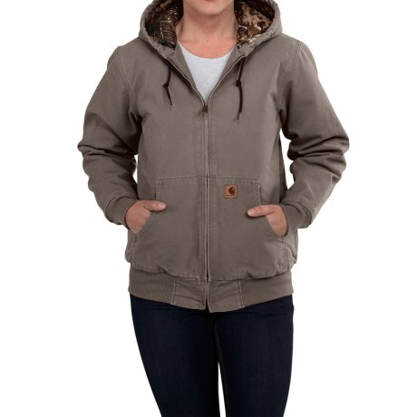 Carhartt Camo-Lined Sandstone Active Jacket - Factory Seconds (For Women) in Taupe Grey