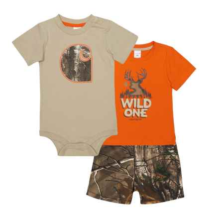 Carhartt Camo T-Shirt, Baby Bodysuit and Shorts Set - Short Sleeve (For Infant Boys) in Dark Brown Print - Closeouts